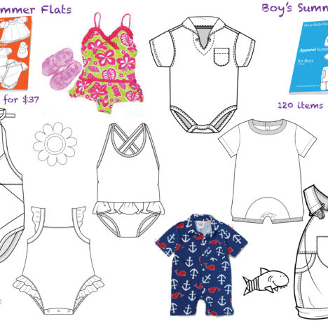 Flat fashion sketches fashion templates in illustrator 3summer kids page 3 pronofoot35fo Images