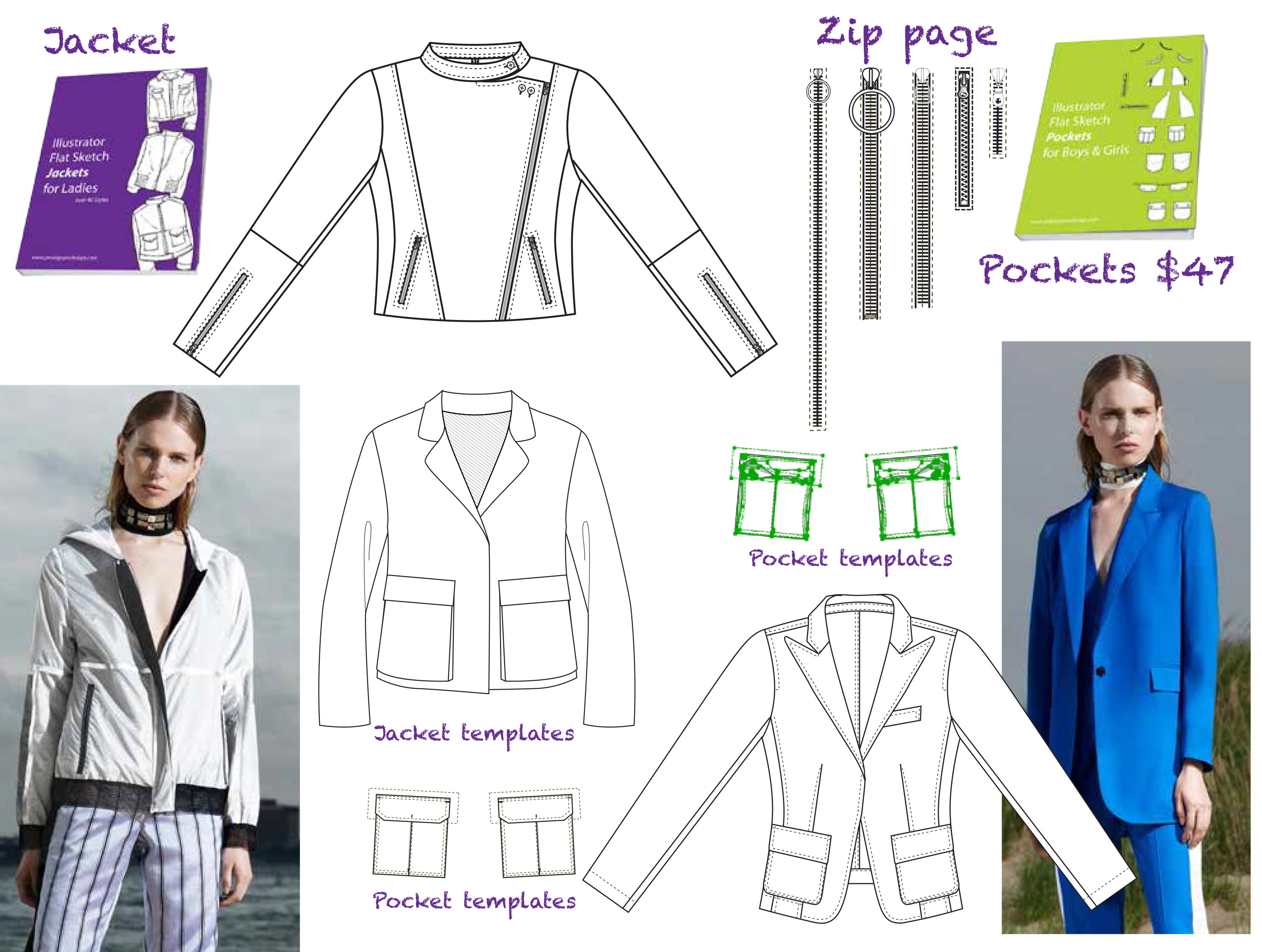 Flat Fashion Sketches d4723c35fb78