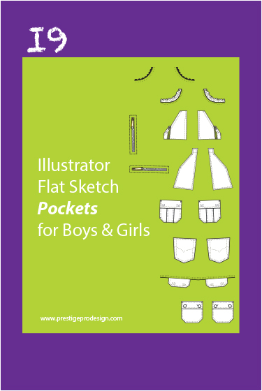 225 Illustrator Flat Sketch Pockets