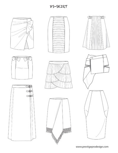 Flat Fashion Sketches Fashion Templates In Illustrator