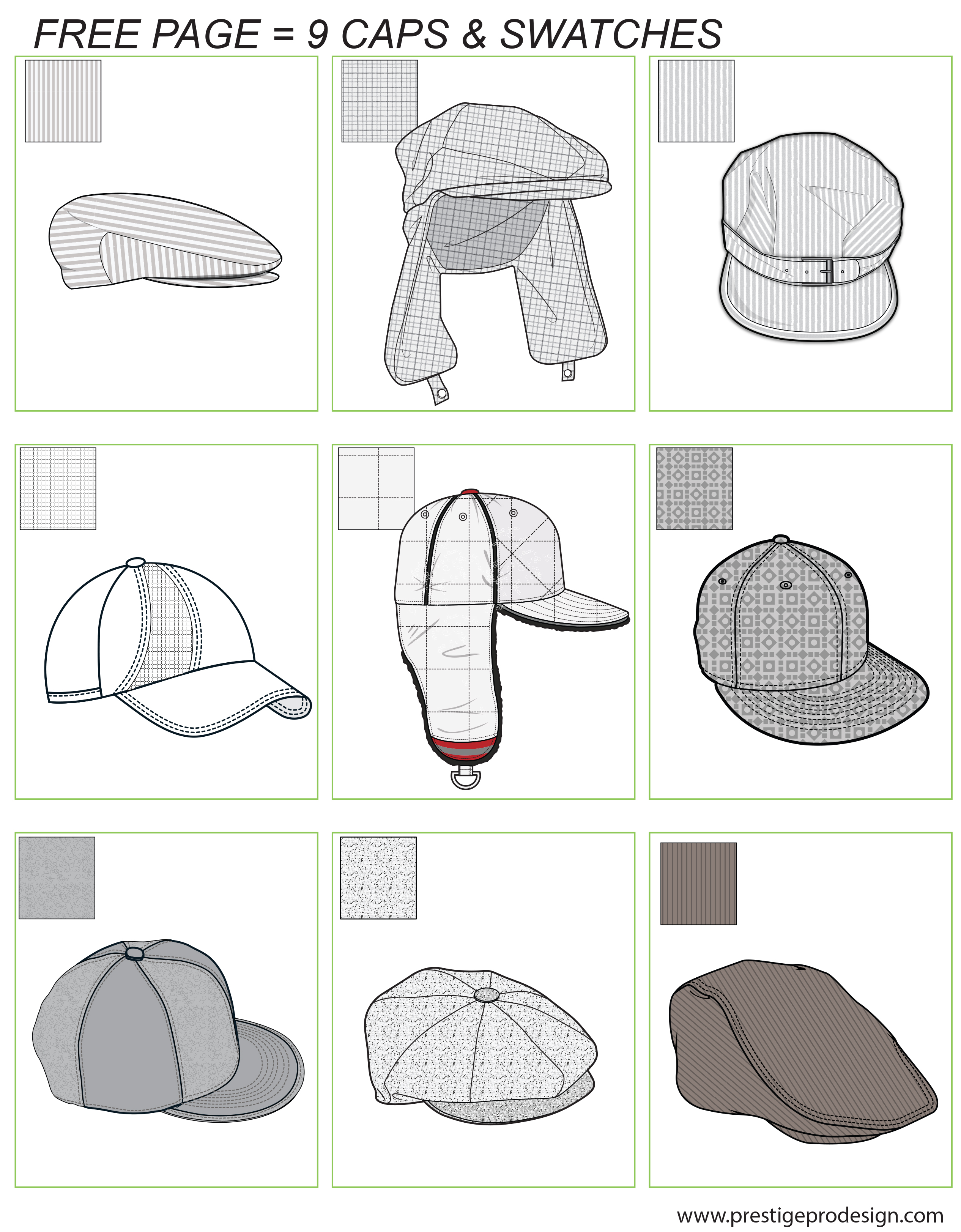 MH16_Men's Hats_Caps